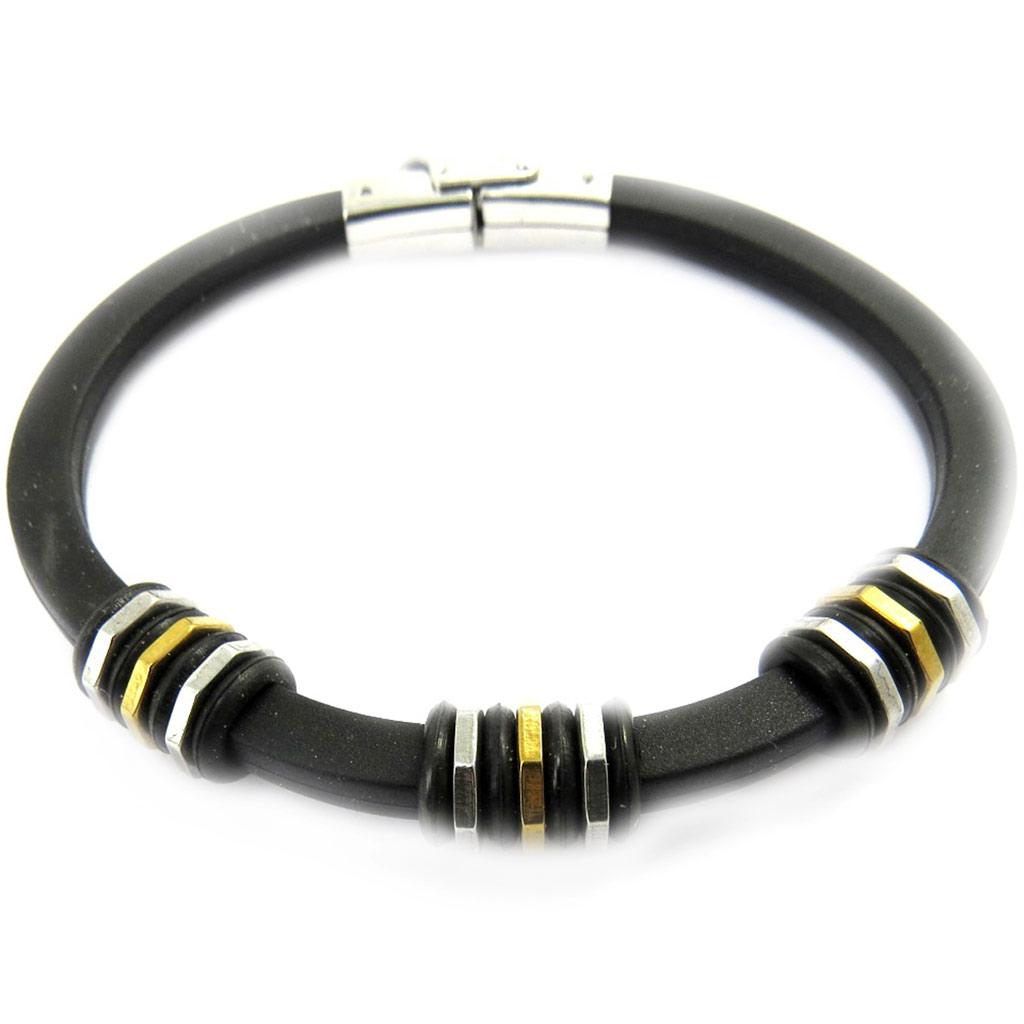 Bracelet \'Peaceful\' noir  - [M0676]