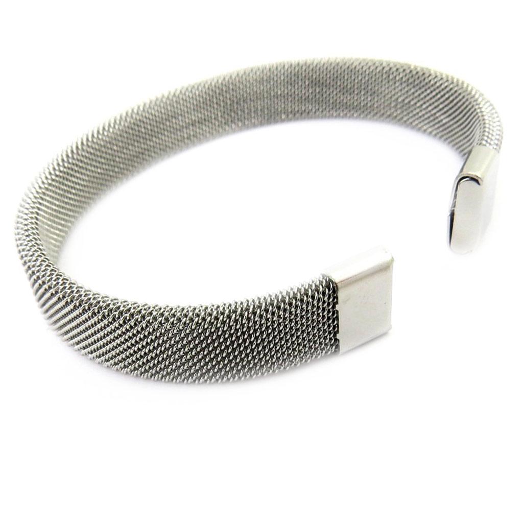 Bracelet \'Peaceful\' argenté - [M0678]