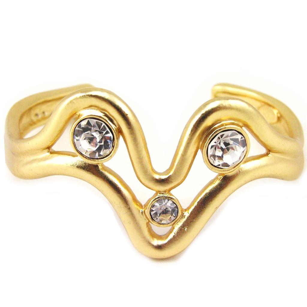 Bracelet Créateur \'Illuminations\' Blanc Doré - [F4168]