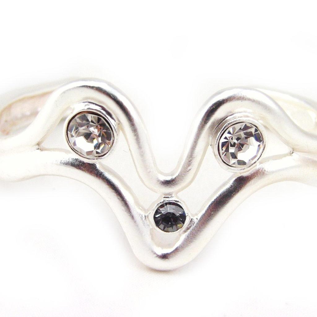 Bracelet Créateur \'Illuminations\' gris Argenté - [F4174]