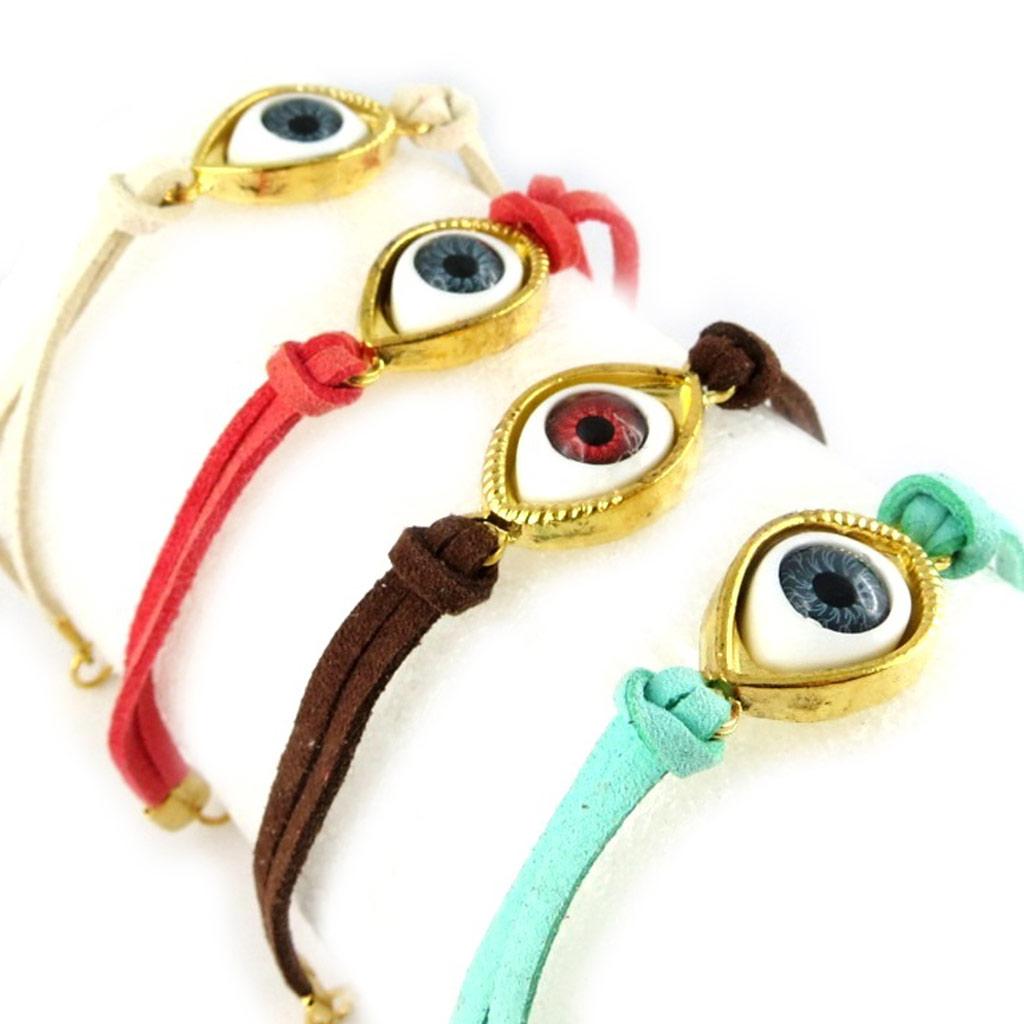 4 bracelets ethniques \'Fatma\' tutti frutti - [K7342]