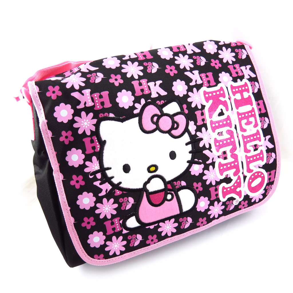 Sac \'Hello Kitty\' noir rose - [K3765]