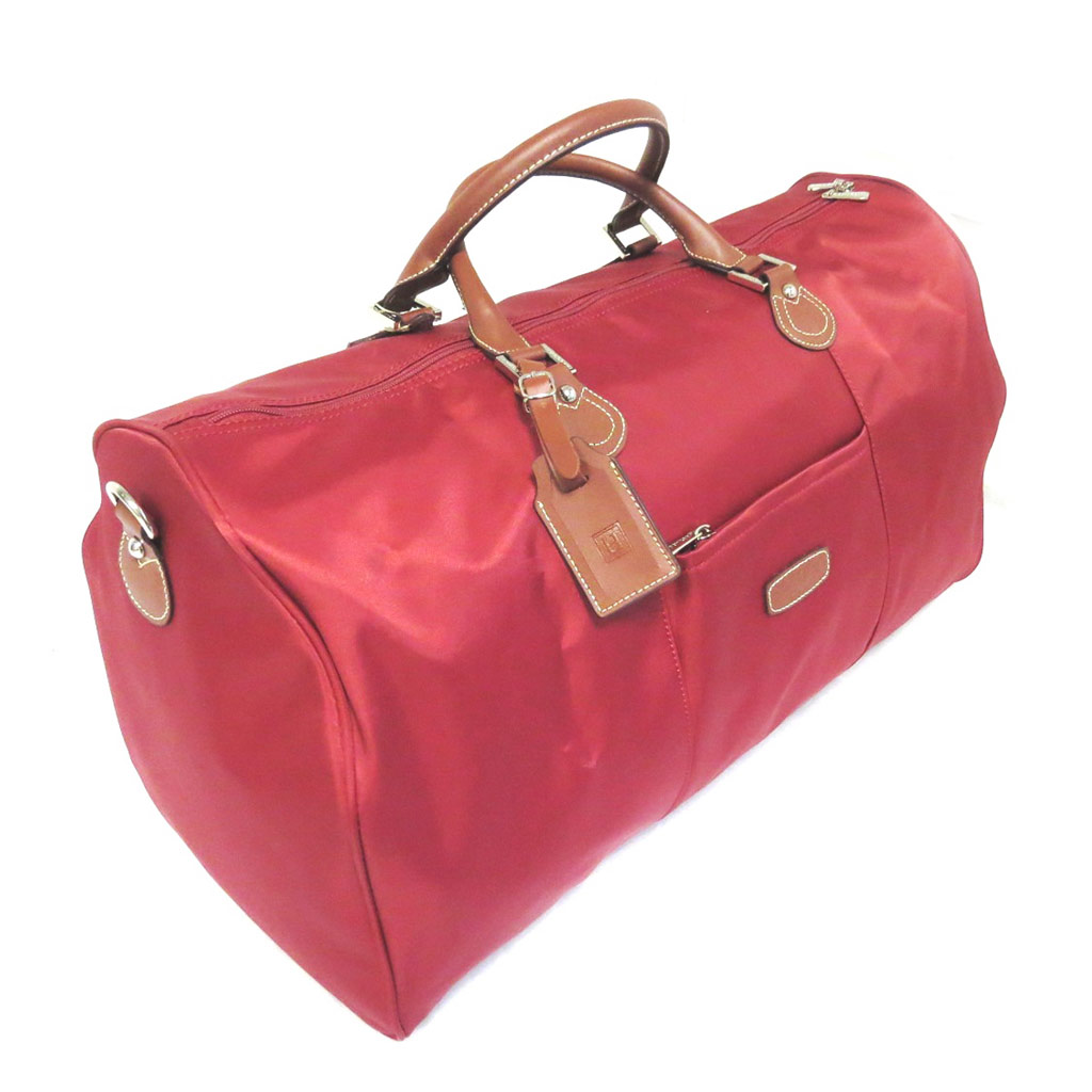 Sac de voyage \'Hexagona\' rouge (52x35x30 cm) - [M0761]