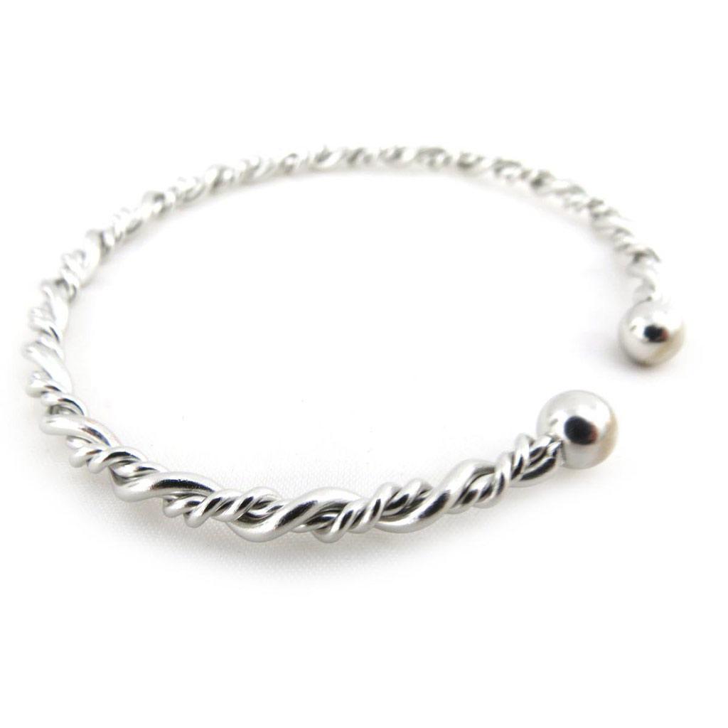 Bracelet \'Chorégraphie\' Argenté  - [J3613]