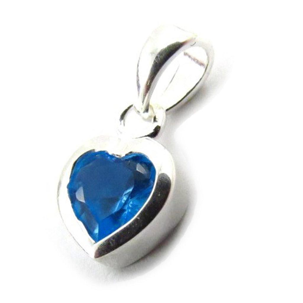 Pendentif Argent \'Love\' turquoise - [G1631]