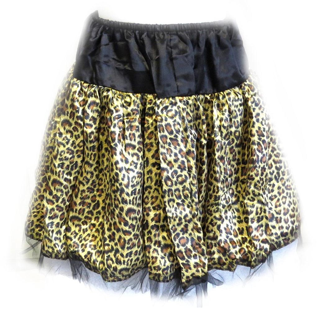 Jupe \'Leopard\' marron noir - [M0867]