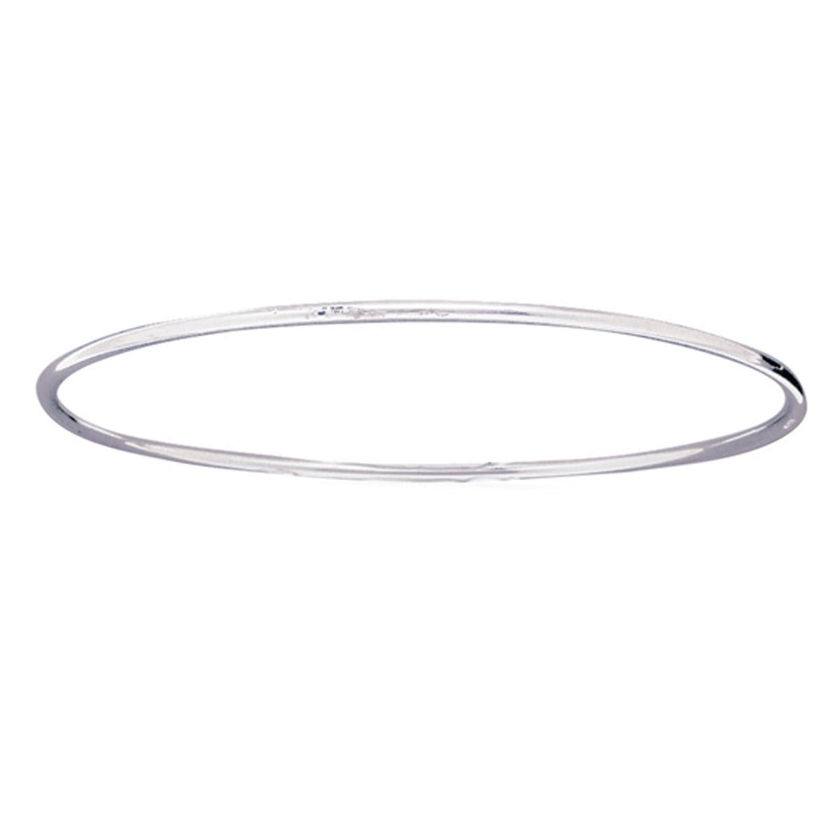Bracelet Argent \'Jonc\' argenté (rhodié) - 66 mm 2 mm - [D6745]