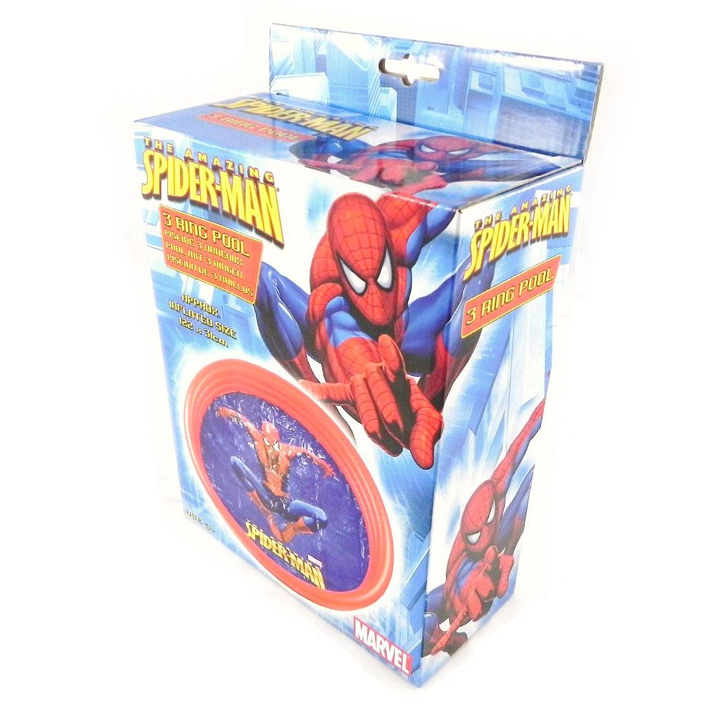 Piscine gonflable \'Spiderman\' bleu rouge - [H6068]