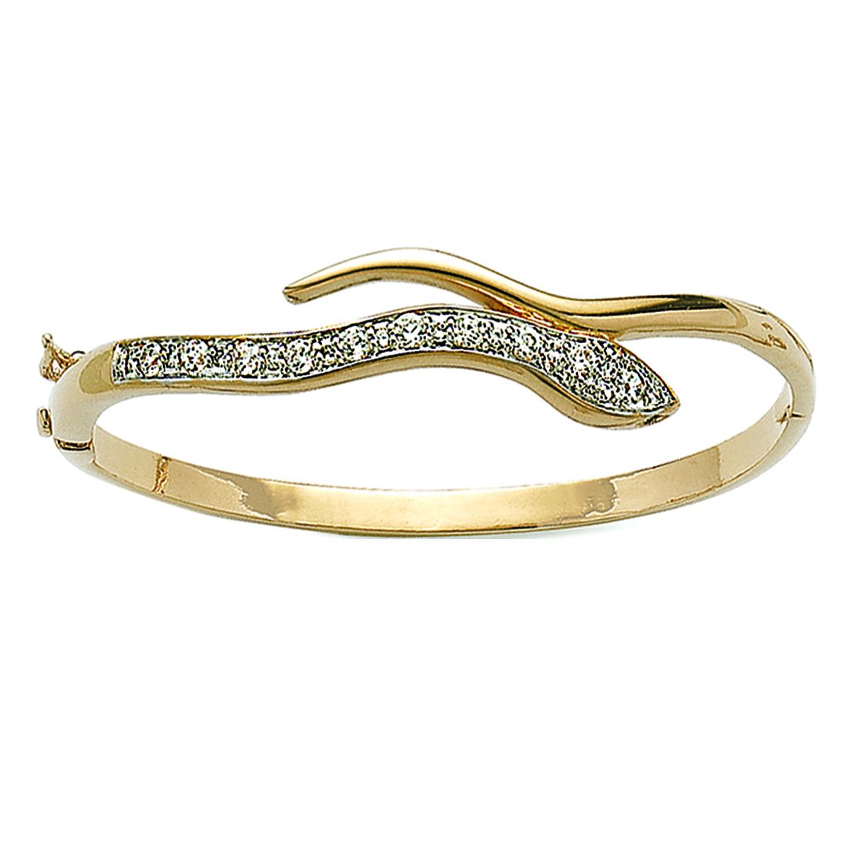 Bracelet Plaqué Or \'Tentation\' Blanc doré - 62 mm 10 mm - [D6749]