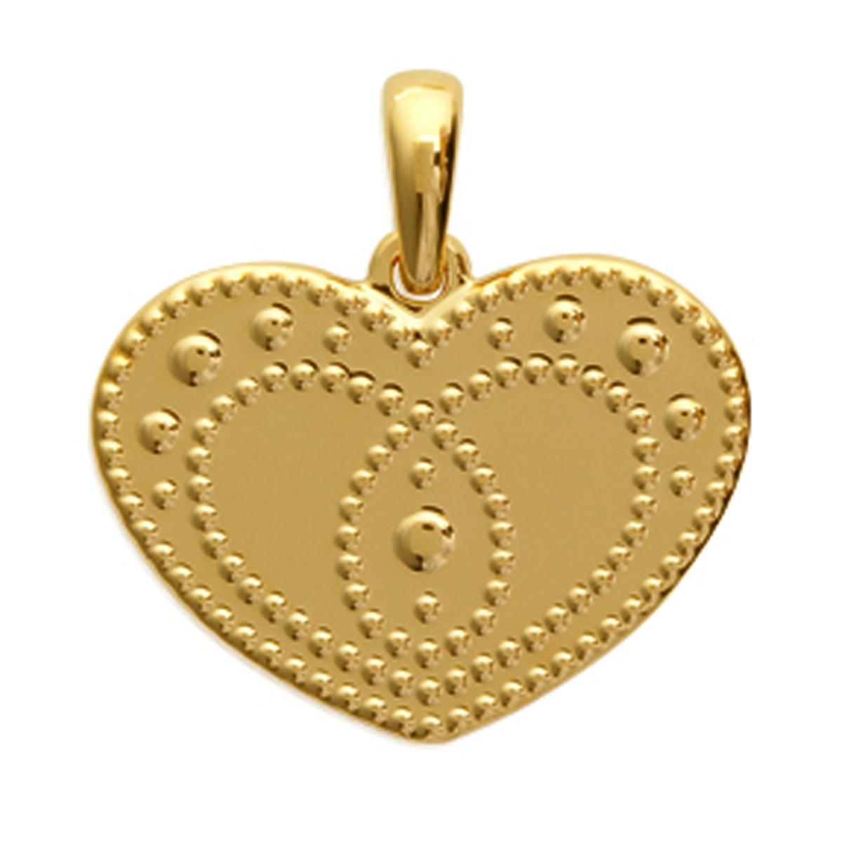 Pendentif Plaqué Or \'Love\' doré - 19x14 mm - [J9601]