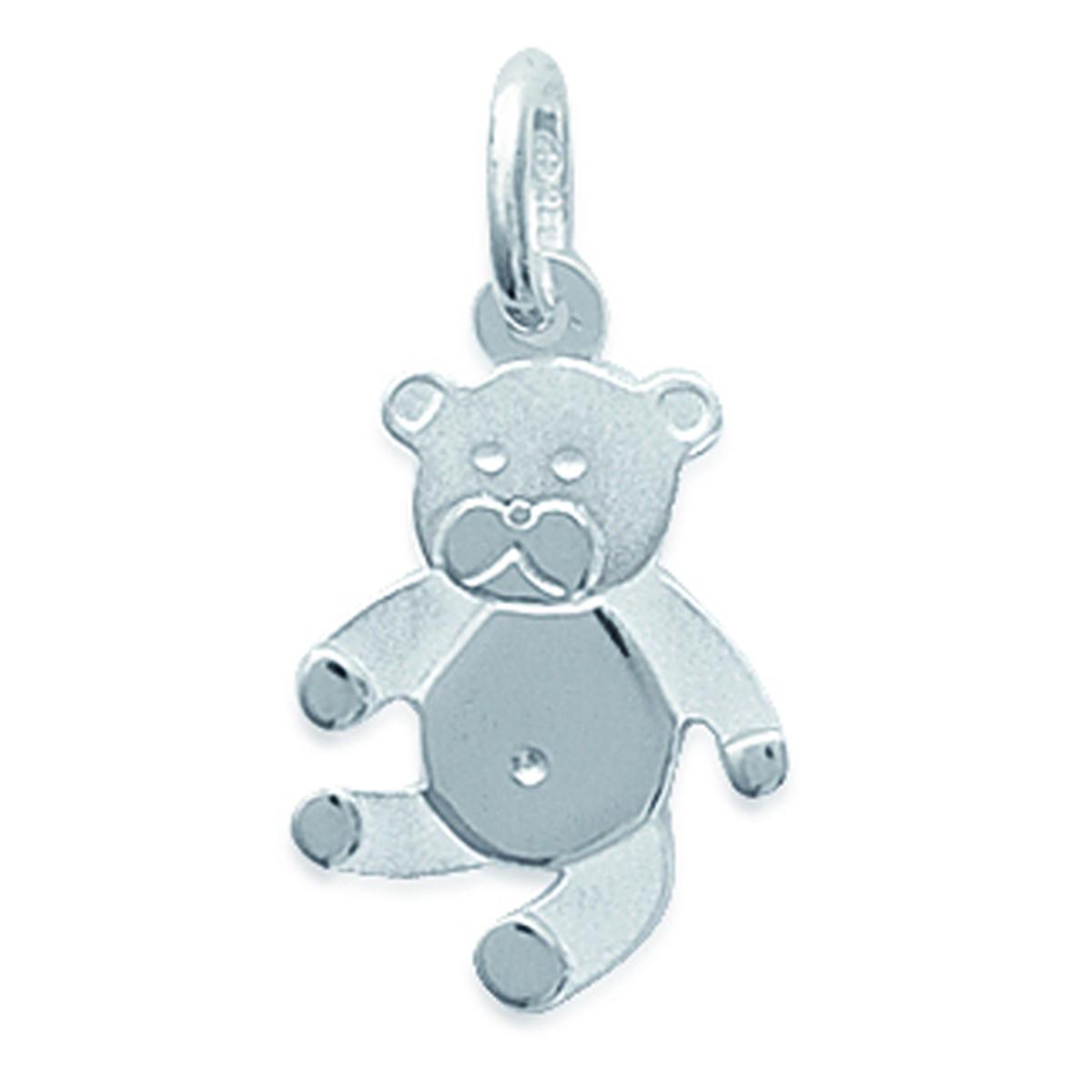 Pendentif Argent \'Teddy\' argenté - 12x16 mm - [B9923]