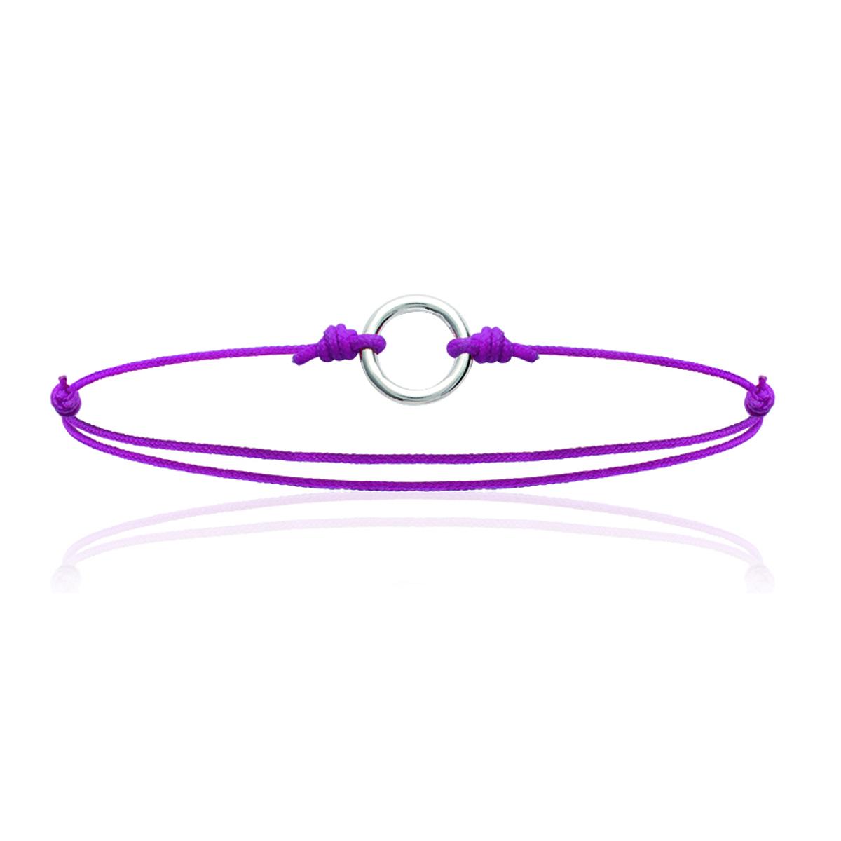 Bracelet Argent \'Chorégraphie\' argenté rose - 10 mm - [K3857]