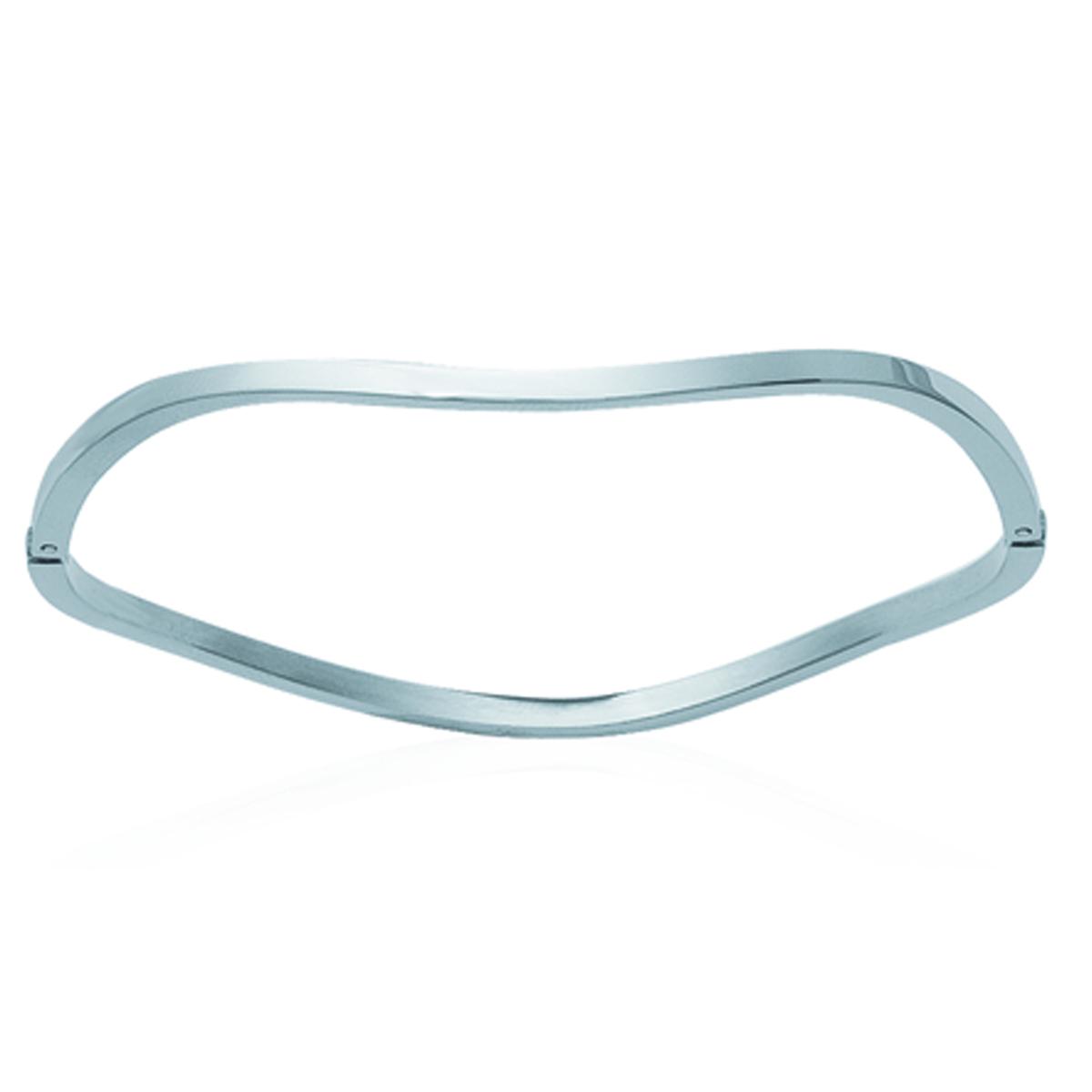 Bracelet Acier \'Chorégraphie\' argenté - 65 mm 3 mm - [H6210]