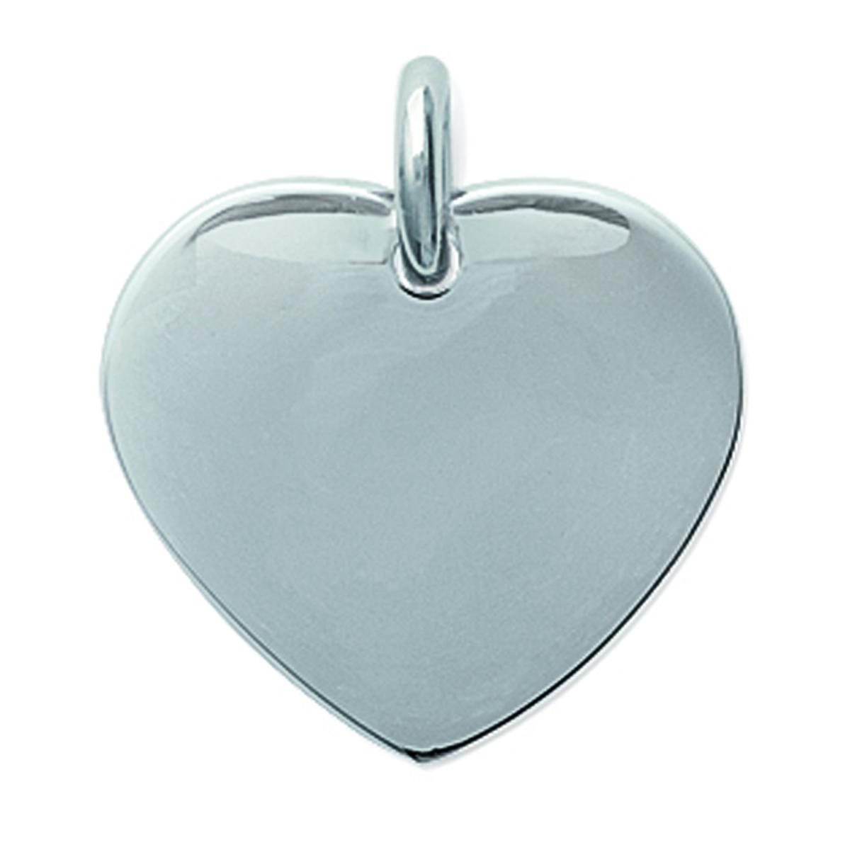 Pendentif acier \'Love\' argenté (personnalisable) - 20x20 mm - [H6231]