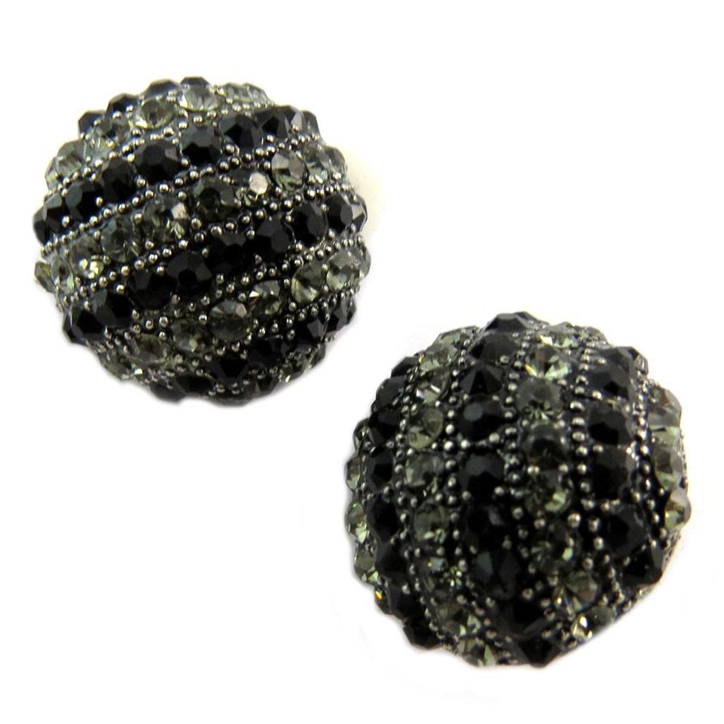 Clips Créateur \'Sissi\' noir gris argenté -  22 mm - [P4681]