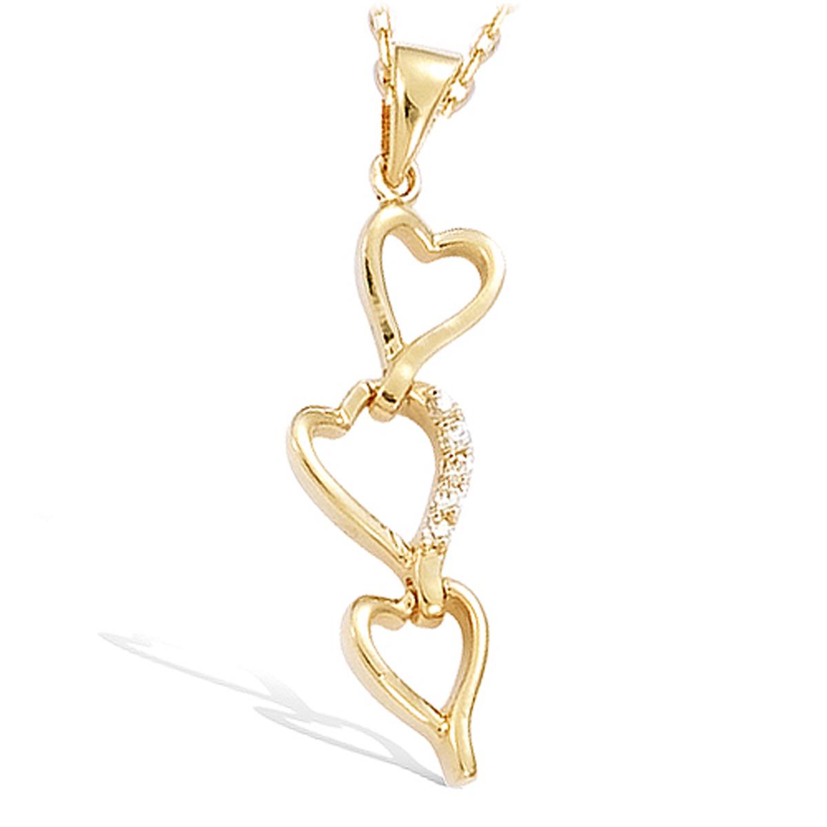 Pendentif Plaqué Or \'Love\' blanc doré  - 3x1 cm - [H0429]