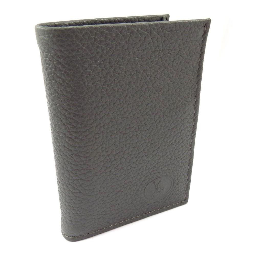 Porte-cartes Cuir \'Frandi\' gris grainé - [K3980]