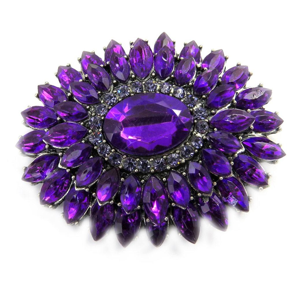 Broche Créateur \'Scarlett\' violet - [L7604]