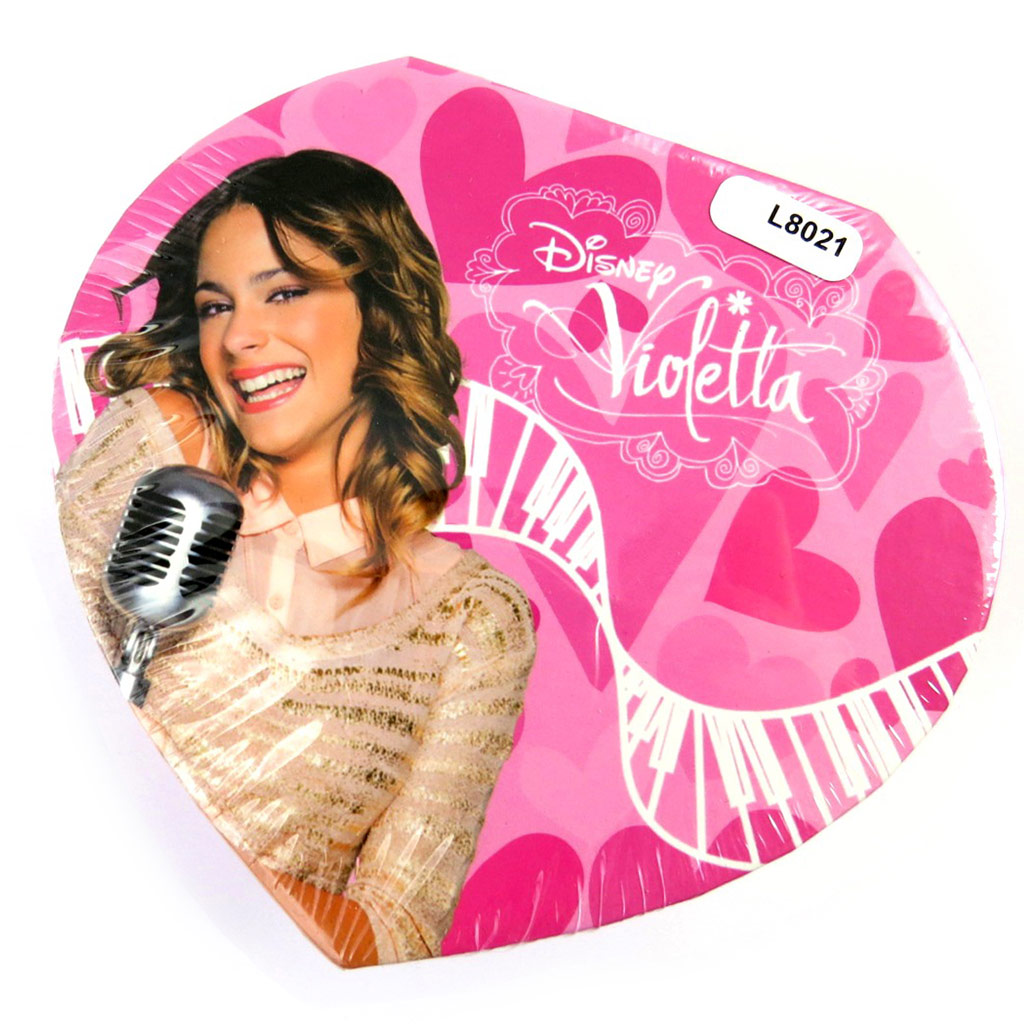 Coffret à Bijoux \'Violetta\' rose (coeur) - [L8021]