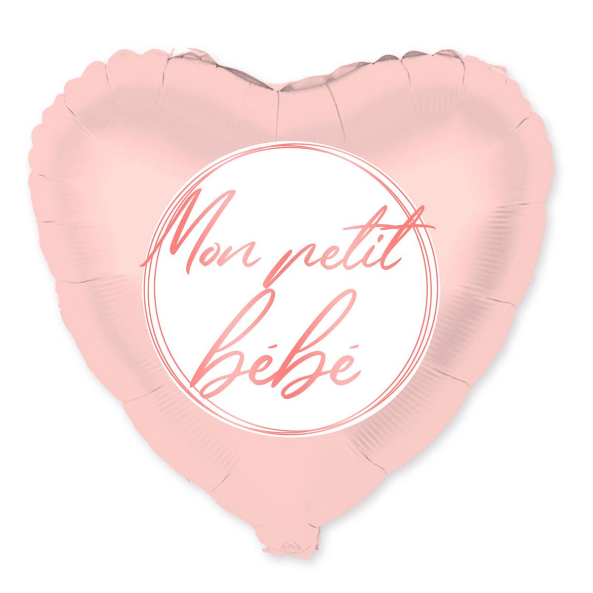 Ballon métallique \'Mon petit bébé\' rose - 48 cm - [A0473]