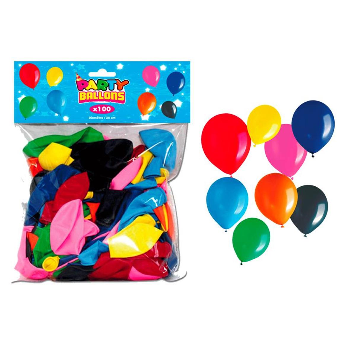 Sachet de 100 ballons \'Coloriage\' tutti frutti - [L4192]