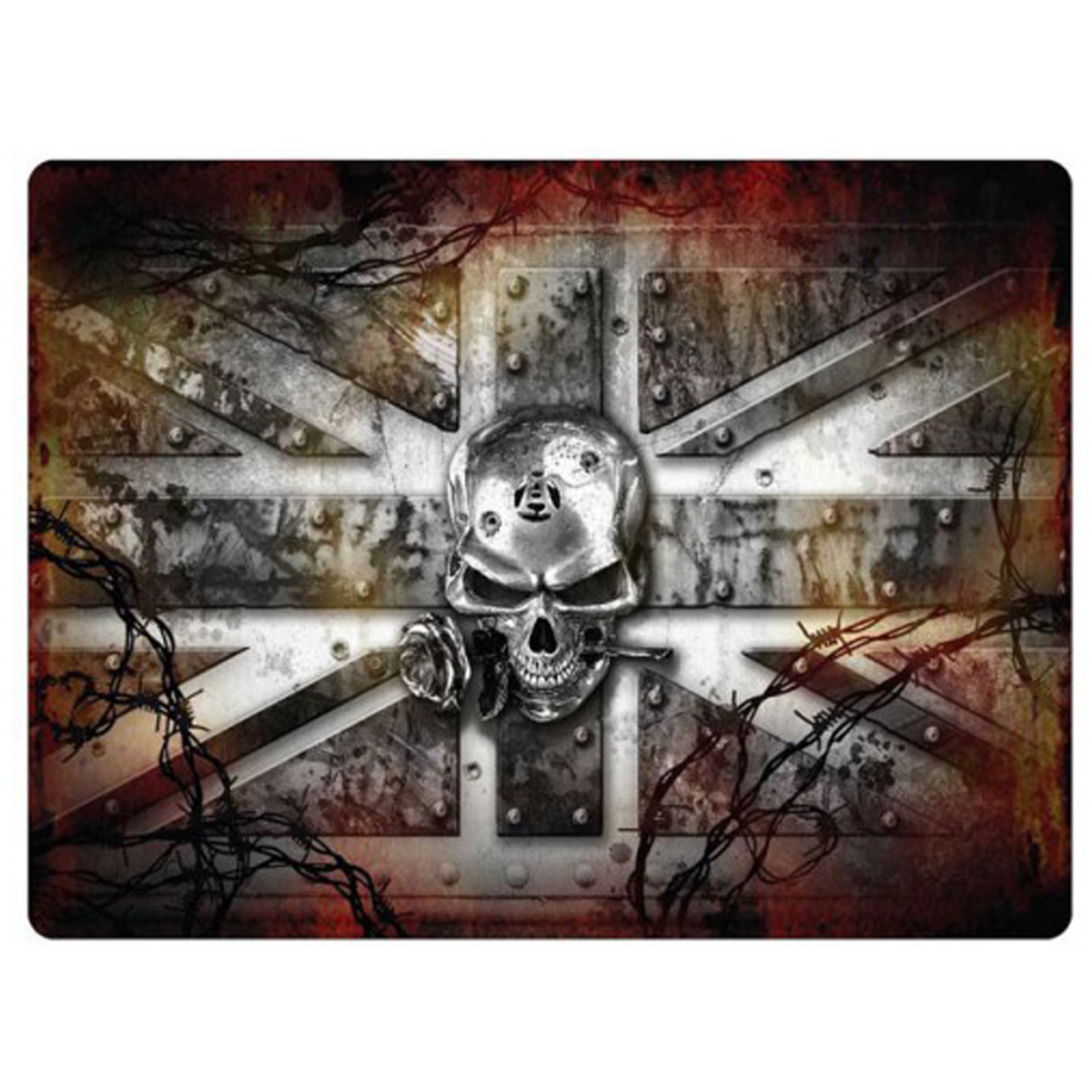 Magnet métal rétro \'Wrought Iron Kingdom\' union jack - 9x65 cm - [Q7118]