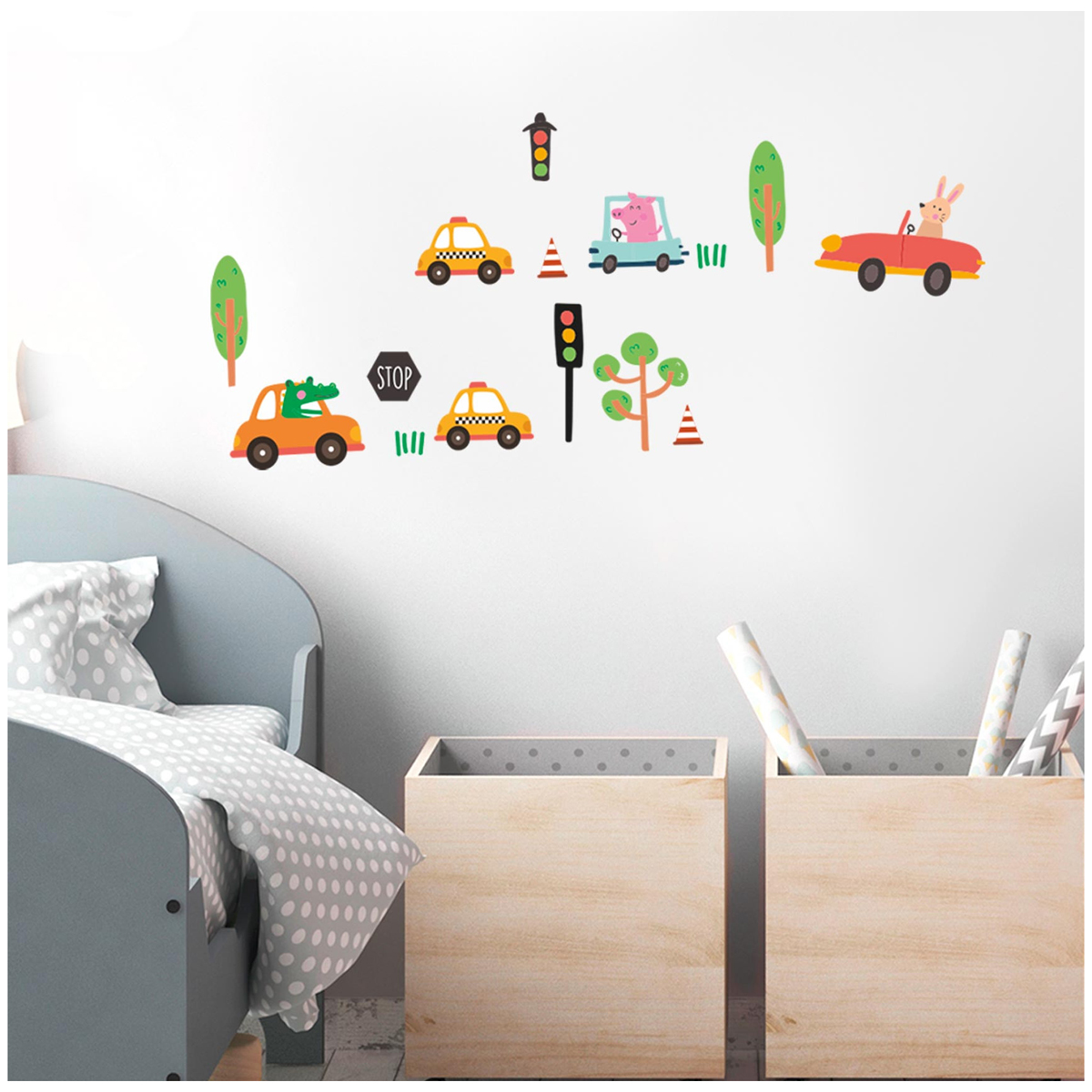 3 planche de stickers \'Voitures\' vert orange - 30x13 cm - [R3416]