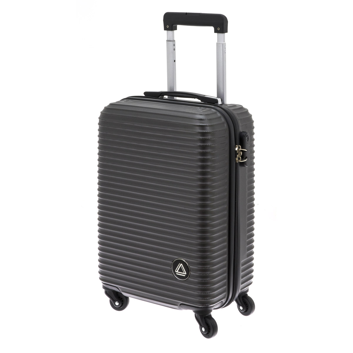 Valise trolley coque ABS \'Davidt\'s\' gris anthracite (format cabine) - 55x38x20 cm - [Q9936]