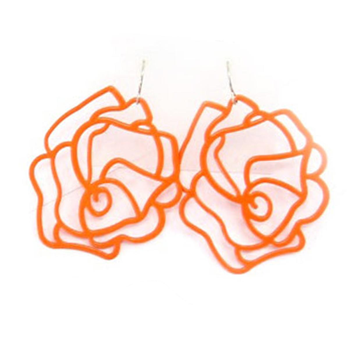 Boucles \'Rosa Romantica\' orange - 5x4 cm - [R3277]