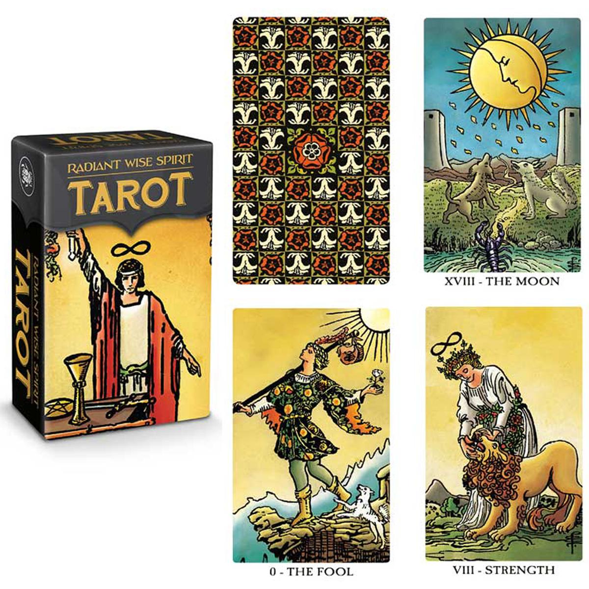 Mini tarot créateur \'Radiant Wise Spirit\' - 9x6x4 cm - [A0204]