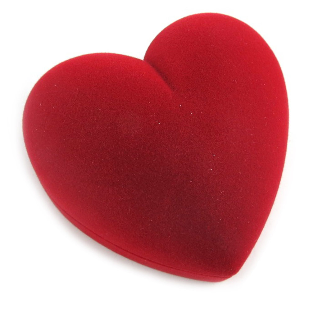 Ecrin bague \'Coeur Volupté\' Rouge - 6x6x4 cm - [L1474]