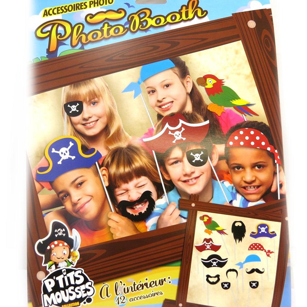 Accessoires photobooth enfant \'Pirates\' - 12 pièces - [M5039]