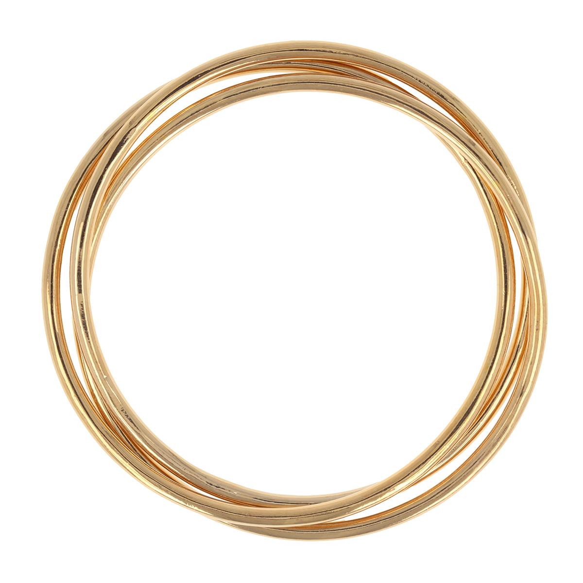 Bracelet Plaqué Or \'Trio Jonc\'  doré - 70 mm 3 mm - [R3510]
