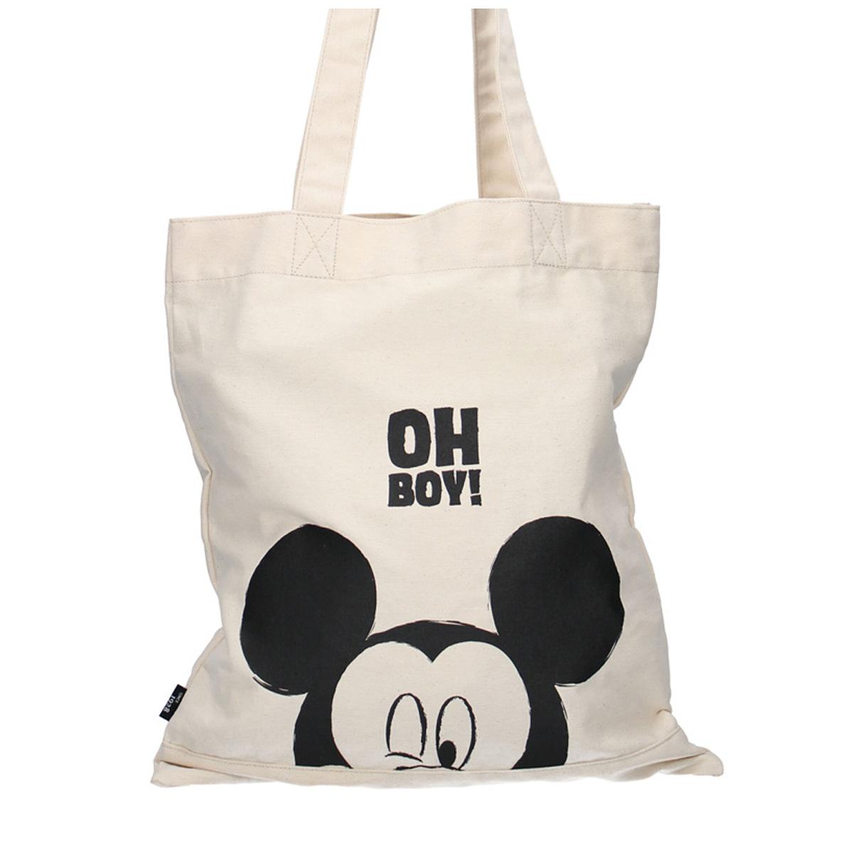 Tote bag / Sac shopping \'Mickey\' beige - 40x36 cm - [A0592]