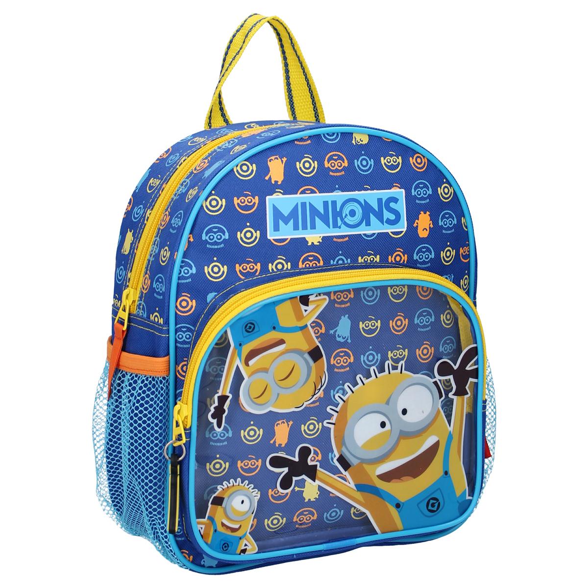 Sac à Dos \'Minions\' bleu  jaune - 28x22x9 cm - [A0597]