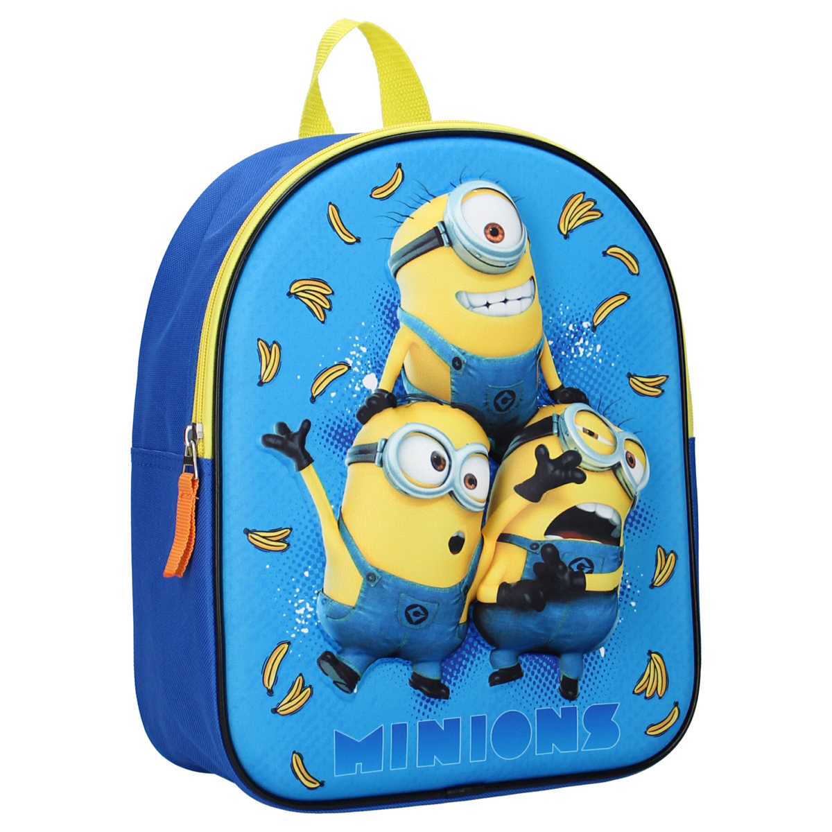 Sac à Dos 3D \'Minions\' bleu jaune - 31x25x10 cm - [A0598]