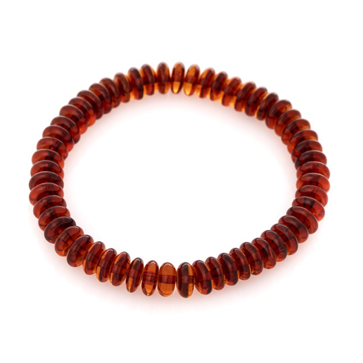 Bracelet \'Inspiration\' ambre cognac - 8 mm - [R3693]