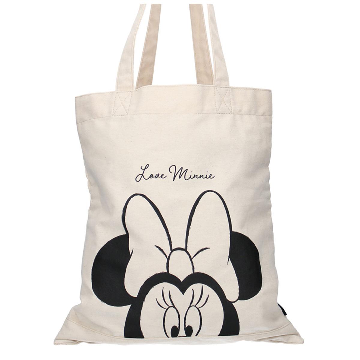 Tote bag / Sac shopping \'Minnie\' beige - 40x36 cm - [A0593]