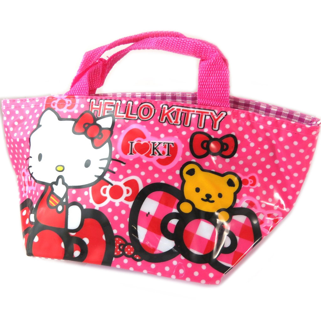 Sac shopping \'Hello Kitty\' rose - 30x15x14 cm - [A0498]