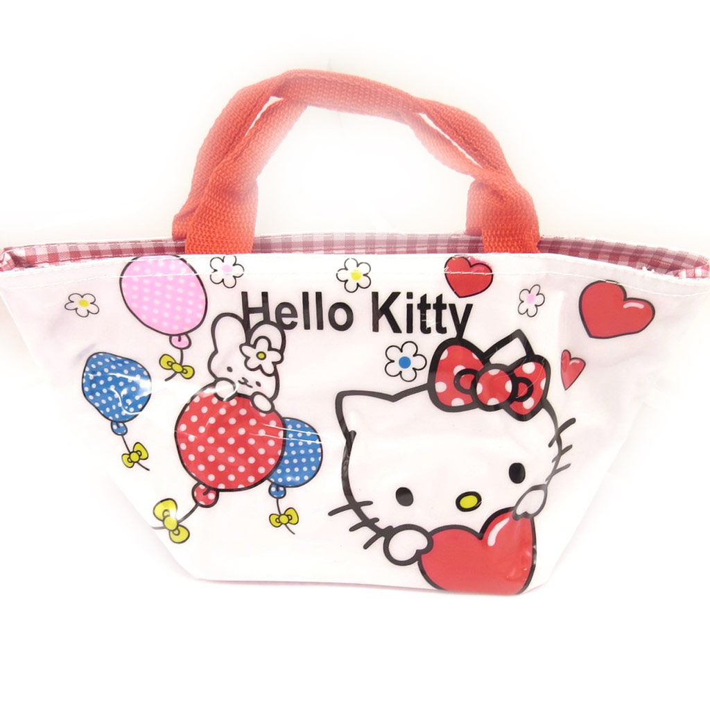 Sac shopping \'Hello Kitty\' blanc multicolore - 30x15x14 cm - [A0503]