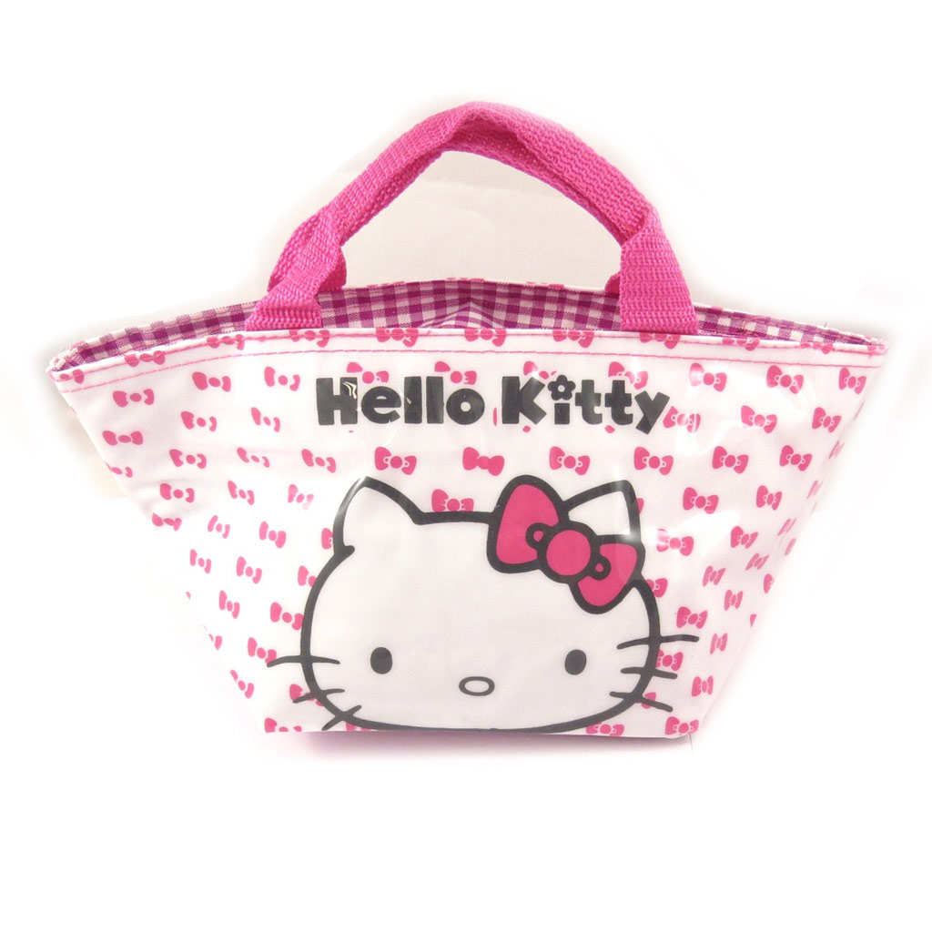 Sac shopping \'Hello Kitty\' rose blanc - 30x15x14 cm - [A0505]