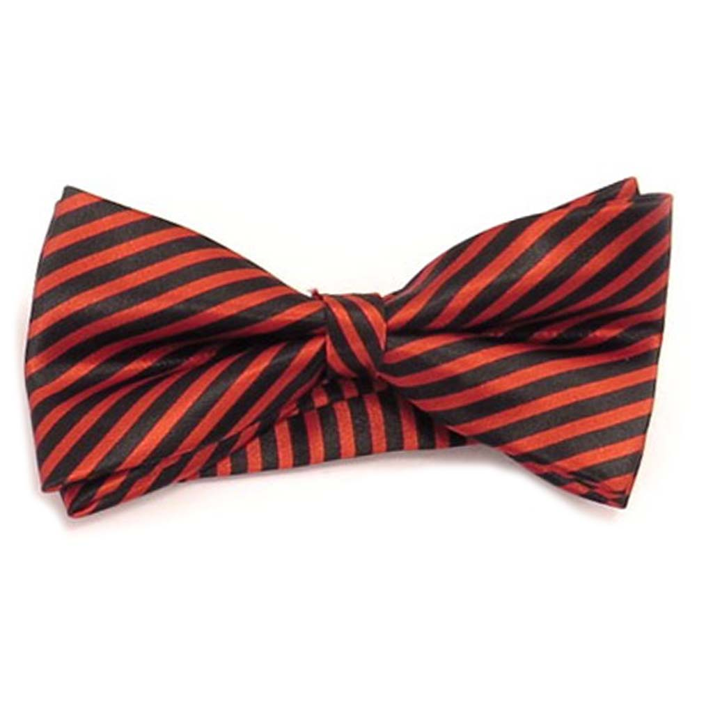 Noeud papillon \'Watson\' rouge noir - 12x55 cm - [A0518]