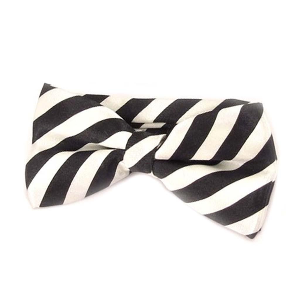 Noeud papillon \'Watson\' noir blanc - 12x55 cm - [A0527]