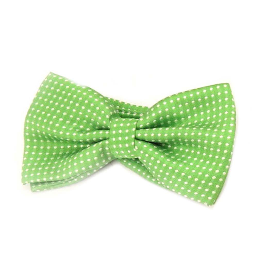 Noeud papillon \'Watson\' vert - 12x55 cm - [A0531]