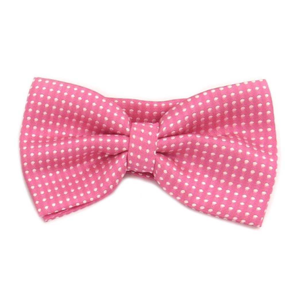 Noeud papillon \'Watson\' rose bonbon - 12x55 cm - [A0536]