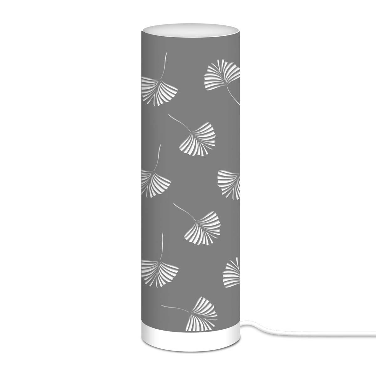 Lampe tube tissu \'Boho\' gris - 63x20 cm - [A0540]