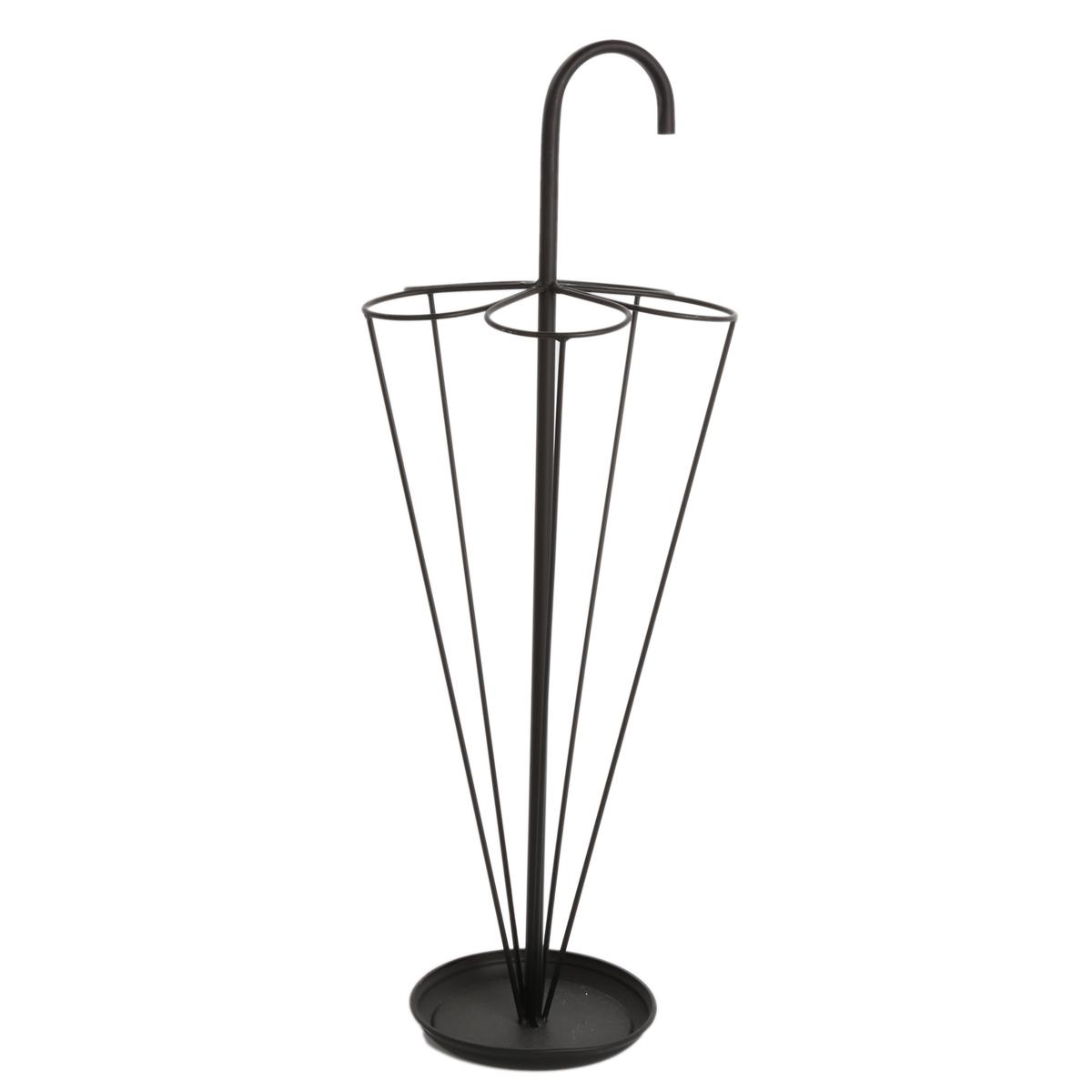 Porte parapluie \'Fer Forgé\' noir - 80x29 cm - [A0618]