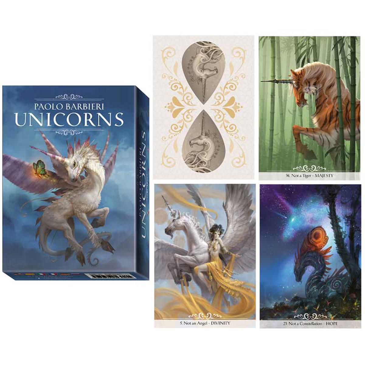 Jeu de cartes d\'inspiration \'Unicorns\' (oracles) - 135x10x3 cm - [A0626]