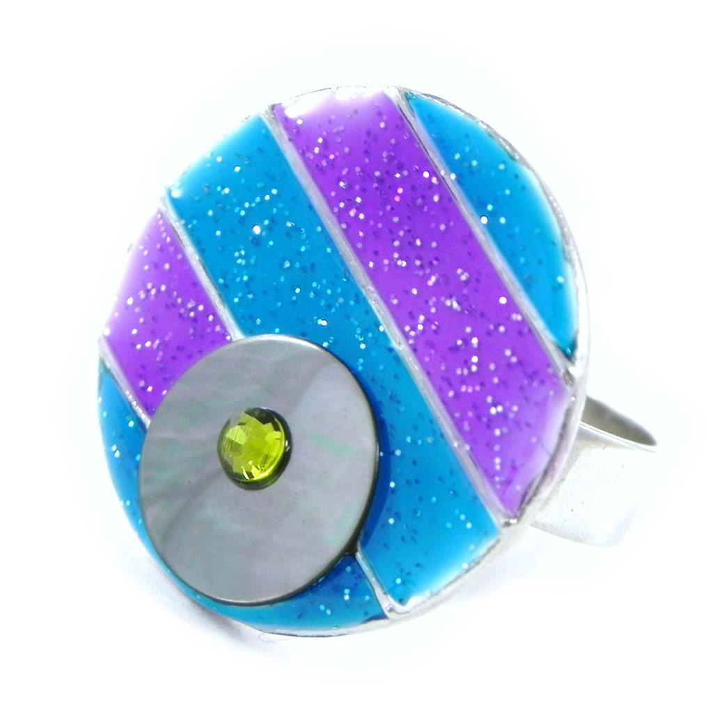 Bague Créateur \'Bora Bora\' bleu violet - [H8856]