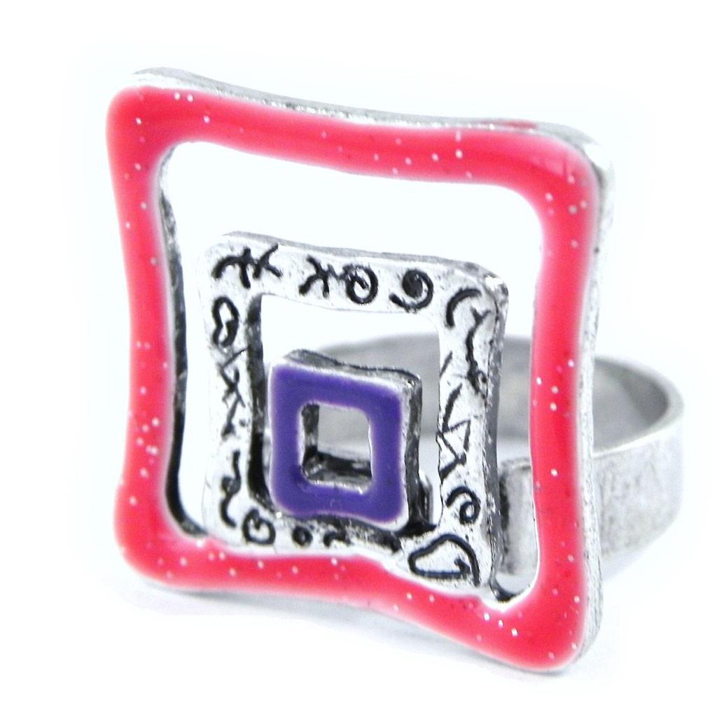 Bague Créateur \'Acapulco\' rouge violet - [H8862]